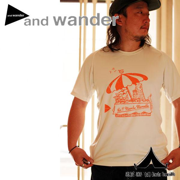 【andwander × La!! Marche Merveille 】 ラ!! マルシェ・メルヴェーユ別注アンドワンダー ドライジャージーTシャツ