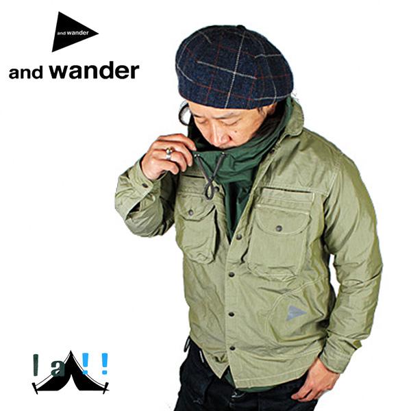 【 andWander 】 アンドワンダー Dry Typewriter Shirts Jacket ドライタイプライターシャツジャケット