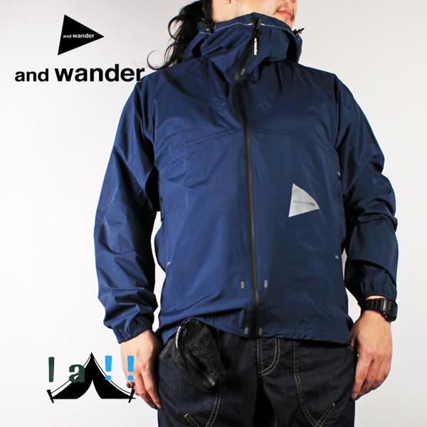 【 andWander 】 アンドワンダー light rain jacket 2 ライトレインジャケット2