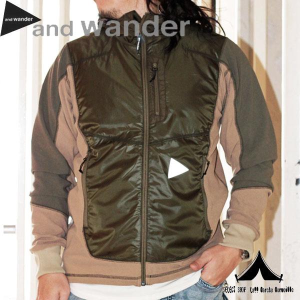 【 andwander 】 アンドワンダー Mixed Pile Hoodie ミクスドパイルフーディー AW-JT001