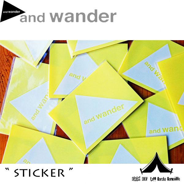 【andwander】 アンドワンダーステッカー sticker AW-AA987