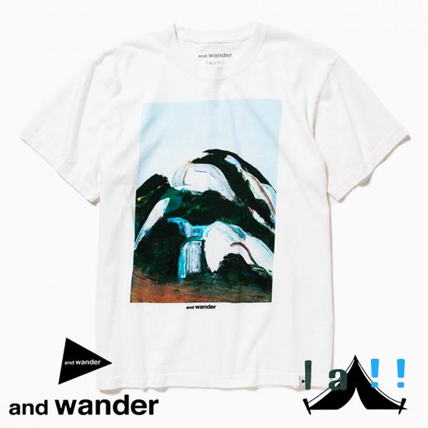 【 and wander 】 アンドワンダー  Yo Jeong×and wander T オム・ユジュン×アンドワンダー Tシャツ