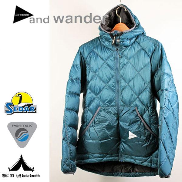 【 andwander 】 アンドワンダー Diamond Stitch Down Jacket ダイヤモンドステッチ・ダウンジャケット