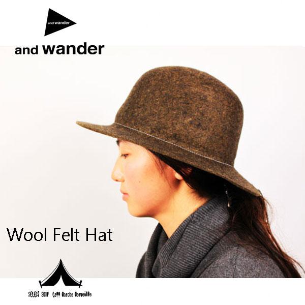 【 andwander 】 アンドワンダー wool felt hat ウールフェルトハット
