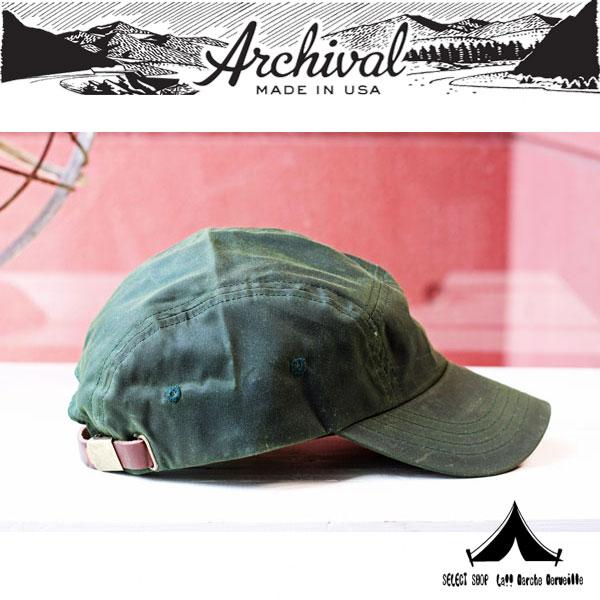 【 Archival Clothing 】 アーカイバルクロージング Waxed Trail Cap ワクスド トレイル キャップ