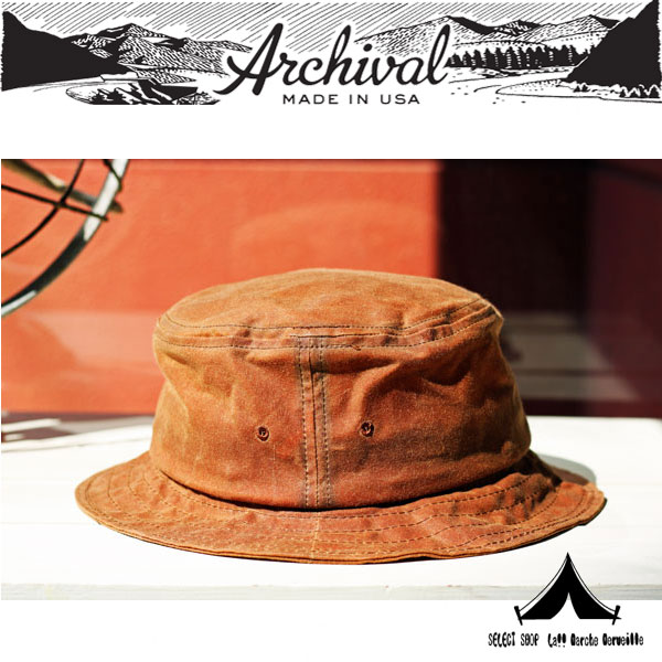 【 Archival Clothing 】 アーカイバルクロージング Waxed Canvas Bucket Hat ワクスド キャンバス バケット ハット
