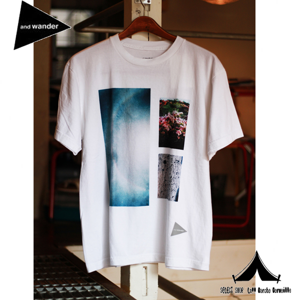 【 andwander 】 アンドワンダー photo printed T by Maoya Matsumoto フォトTシャツ AW61-JT045