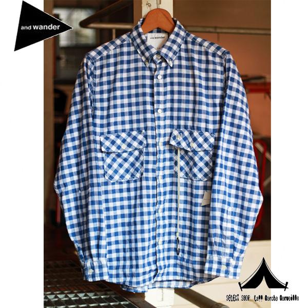 【 andWANDER 】 アンドワンダー Dry Linen Shirt ドライリネンシャツ AW61-FT033