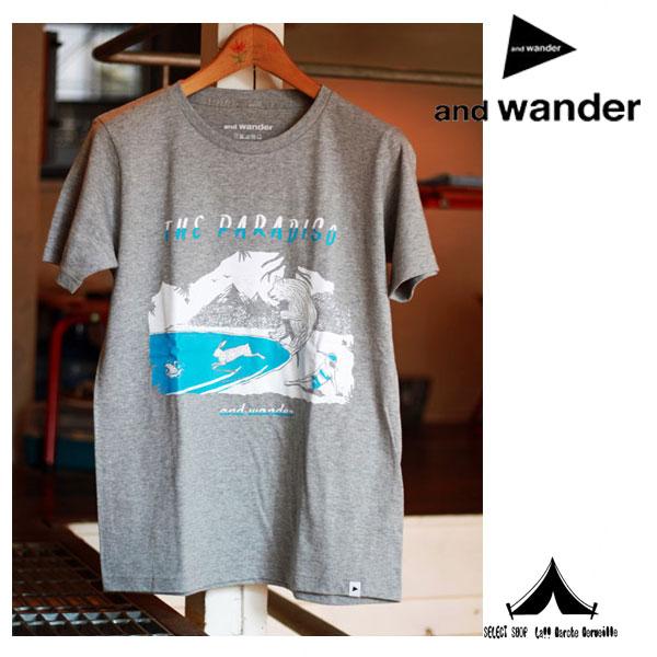 【 andwander 】 アンドワンダー Paradiso T( Mens ) AW61-JT043