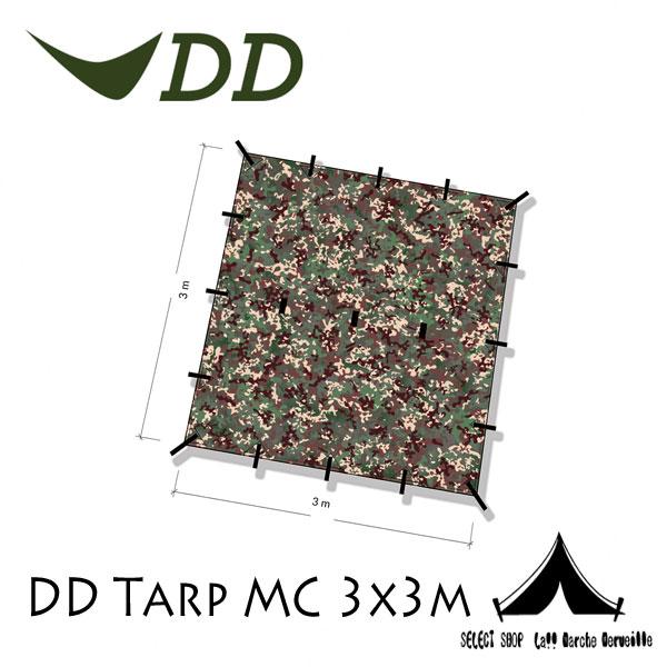 """【 DD 】 DD Tarp - MC DDタープ 3x3 マルチカモ """" Wilderness Companion """"ウィルダネス・コンパニオン"""
