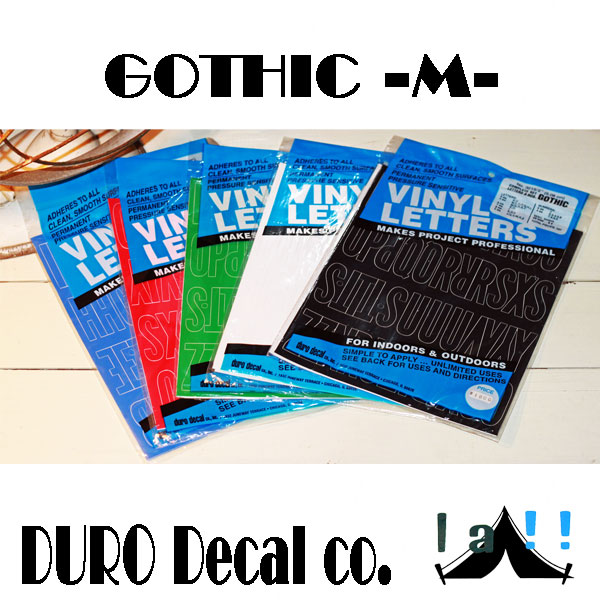 【 DURO Decal co. 】 デューロ・デカール GOTHIC -M-