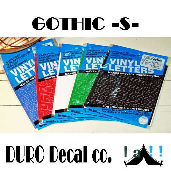 【 DURO Decal co. 】 デューロ・デカール GOTHIC -S-