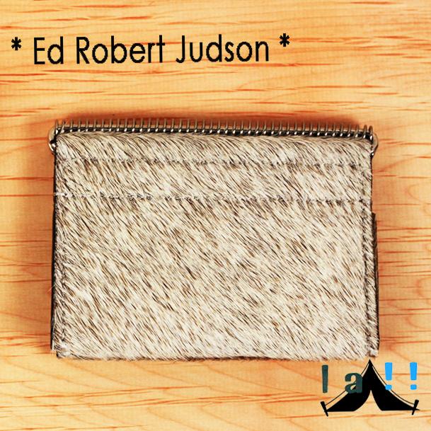 【 Ed Robert Judson 】 エド・ロバート・ジャドソン HELIX Cow Hair Card Case ハラコレザー・カードケース