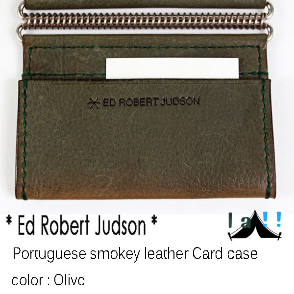 【 Ed Robert Judson 】 エド・ロバート・ジャドソン Portuguese Smokey Leather Card Case スモーキー・ポルトガルレザー・カードケース