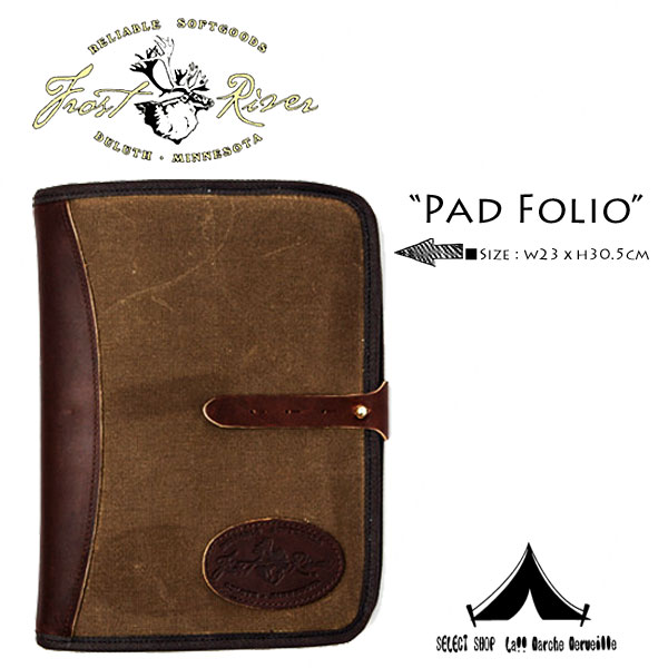 【 Frost River 】 フロストリバー Waxed Canvas Padfolio