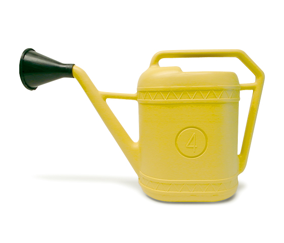 【 Italian plastic watering can 】プラスチック製 ジョウロ 【4 リットル】 Made in Italy