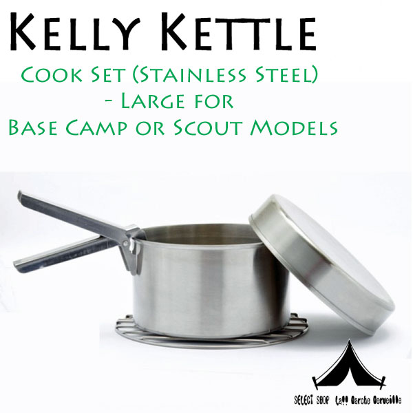 【 KellyKettle 】 ケリーケトル Cook Set (Stainless Steel) Large for  Base Camp or Scout Models クックセット(大)