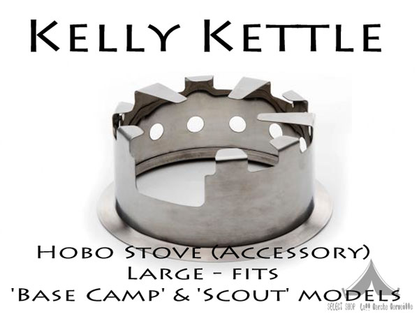 【 KellyKettle 】 ケリーケトル Hobo Stove (Accessory) Large fits 'Base Camp' & 'Scout' models ホーボーストーブ 1.2L & 1.6L用