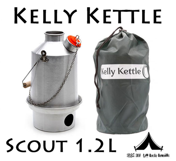 【 KellyKettle 】 ケリーケトル Stainless Steel 'Scout' Kettle 1.2L スカウト1.2L ステンレス(コルクキャップ付き)