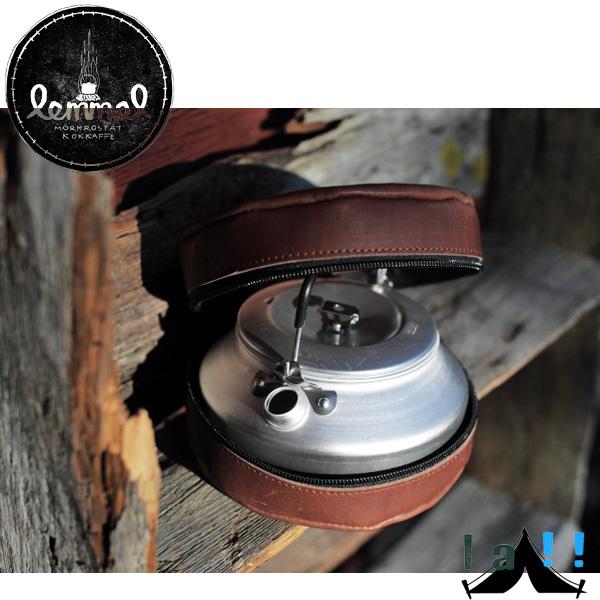 【 lemmel KAFFE 】 レンメル・コーヒー Coffee kettle 0.9L with leather case レザーケース入りコーヒーケトル