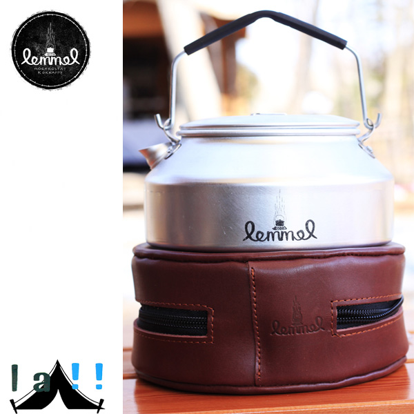 【 lemmel KAFFE 】 レンメル・コーヒー Coffee kettle 0.9L with leather case レザーケース入りコーヒーケトル