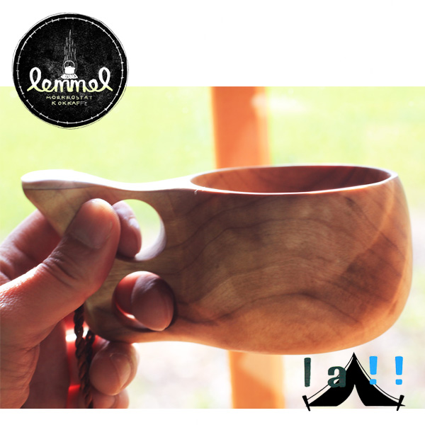 【 lemmel KAFFE 】 レンメル・コーヒー Kuksa with a Deer Horn 鹿角付きククサ