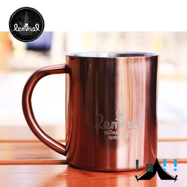 【 lemmel KAFFE 】 レンメル・コーヒー Copper Coated Double Wall Stainless Steel Mug ダブルウォール・ステンレスマグ(銅コーティング)