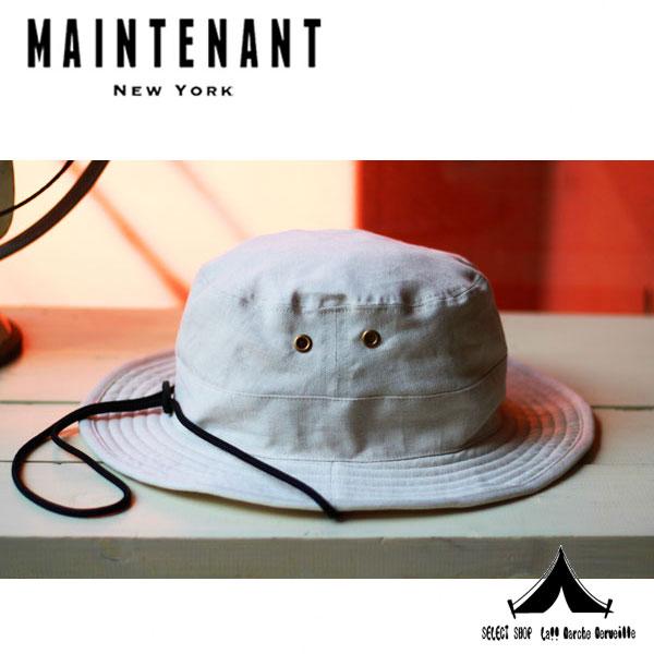 【 Maintenant N.Y. 】 メンテナントN.Y Wash Twill Safari Hat サファリハット