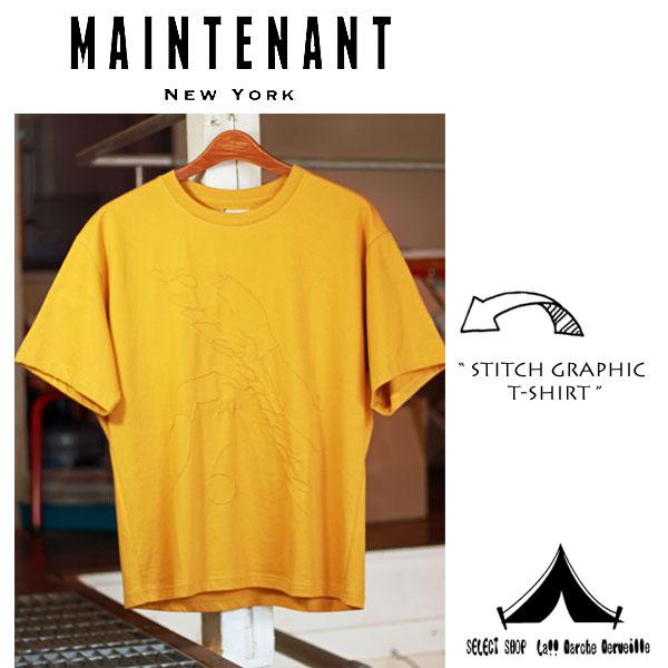 【 Maintenant N.Y. 】 メンテナント N.Y 40/2 Jersey Stitch Graphic T-Shirt 40/2ジャージー・ステッチグラフィックTシャツ