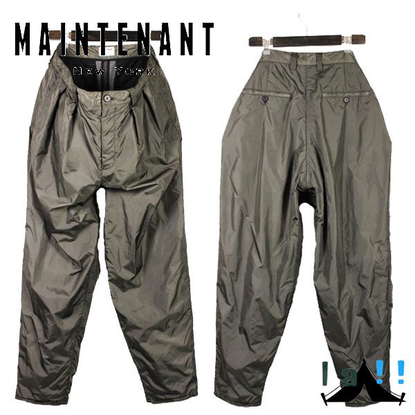【 Maintenant N.Y. 】 メンテナント New Tuck Pants