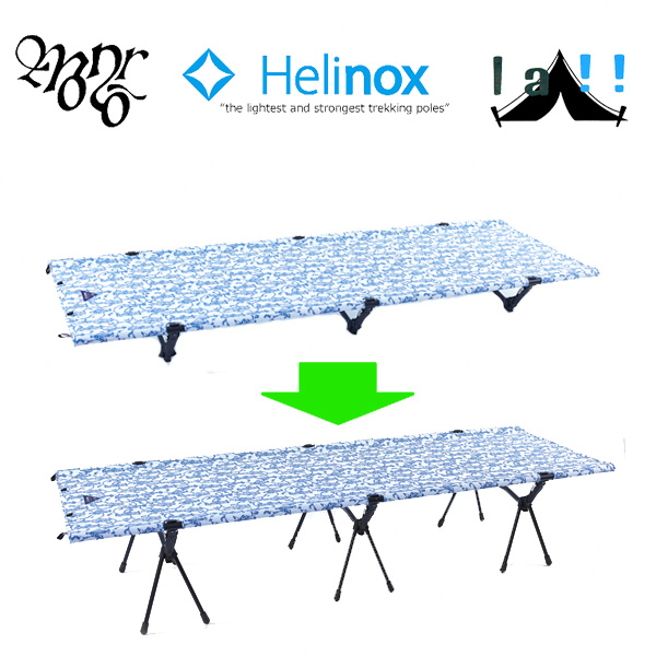 【 Monro x Helinox 】 モンロ x ヘリノックス Cot Convertible SET [HARVEST]