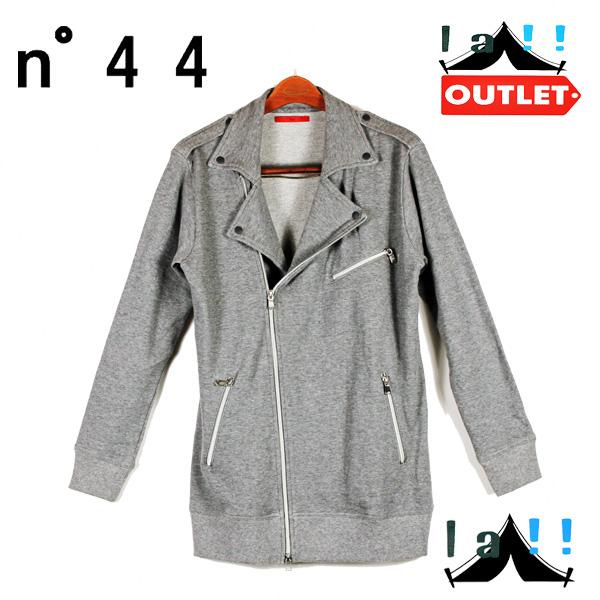 【 N°44 】 ナンバー44 スウェットライダースジャケット