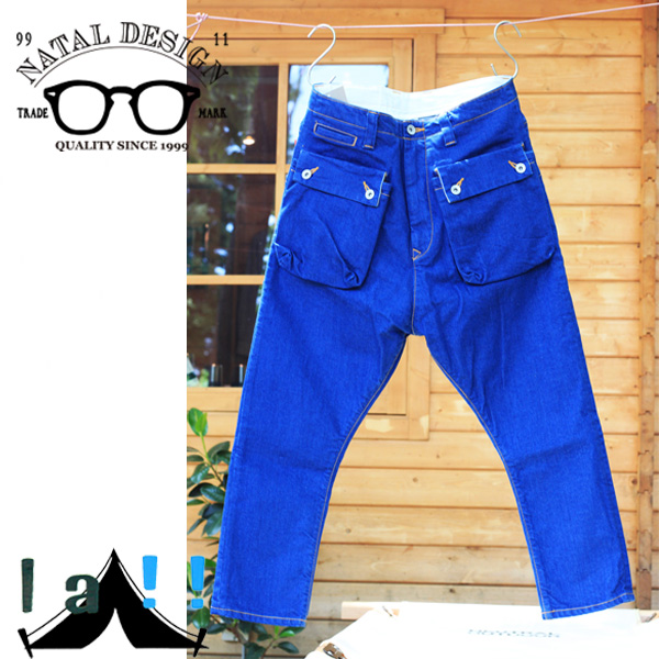 【NATAL DESIGN】 ネイタルデザイン G55 Sarouel Flap Denim Pants -AUTHENTIC-