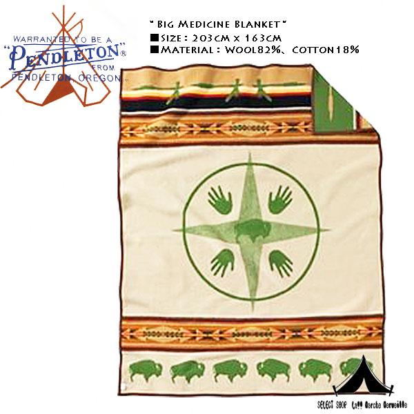 【 Pendleton Woolen Mills 】 ペンドルトン Big Medicine Blanket ビッグメディスン・ブランケット
