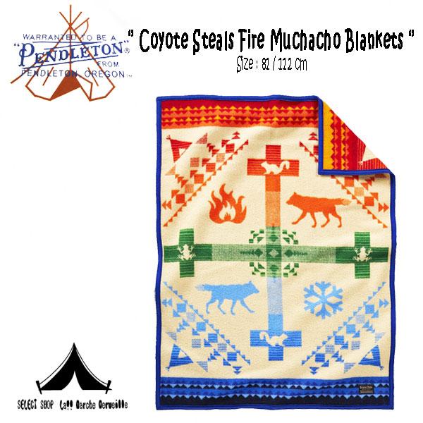 【 Pendleton Woolen Mills 】 ペンドルトン Cyote Steals Fire Muchacho Blankets (81cm × 112cm)