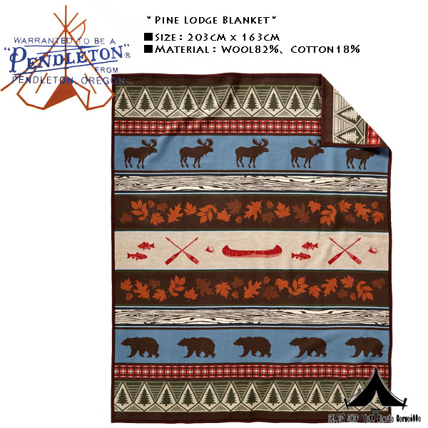 【 Pendleton Woolen Mills 】 ペンドルトン Pine Lodge Blanket パインロッジ・ブランケット