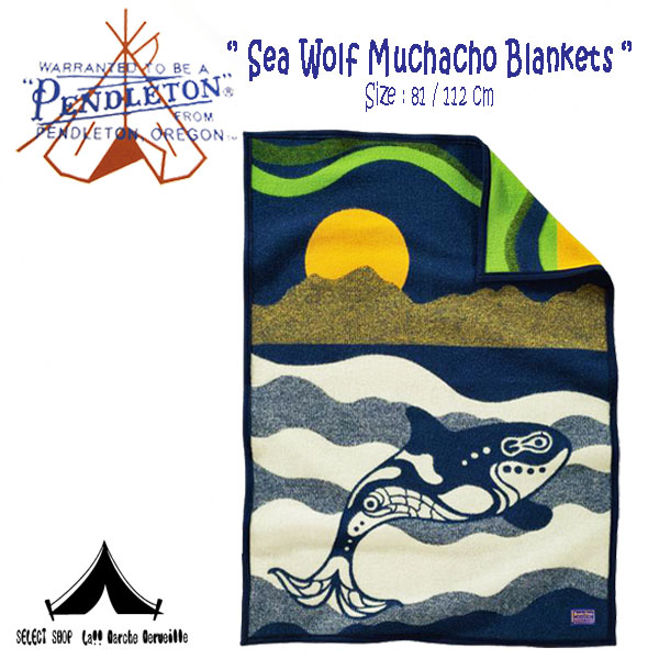 【 Pendleton Woolen Mills 】 ペンドルトン Sea Wolf Muchacho Blankets (81cm × 112cm)