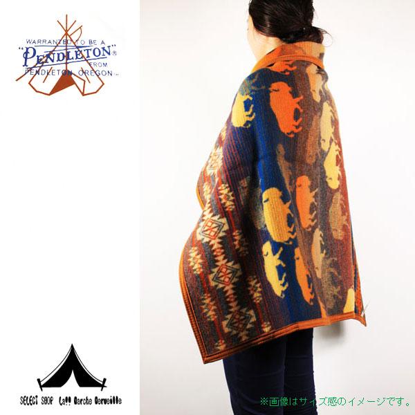 【 Pendleton Woolen Mills 】 ペンドルトン Prairie Rush Hour Muchacho Blankets (81cm × 112cm)