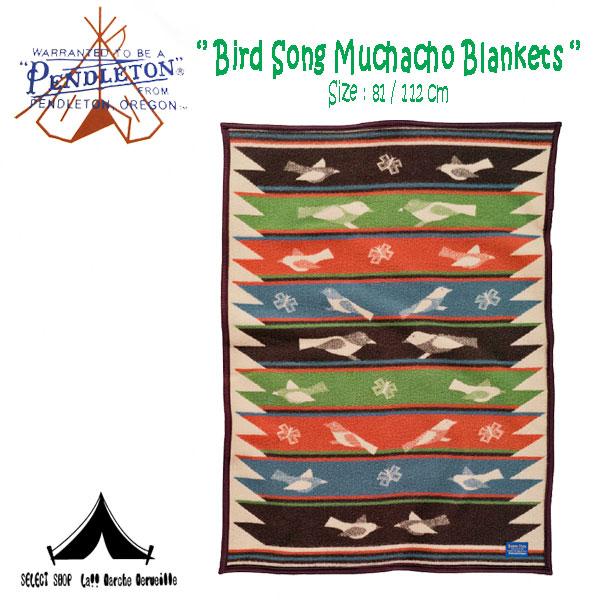 【 Pendleton Woolen Mills 】 ペンドルトン Bird Song Muchacho Blankets (81cm × 112cm)