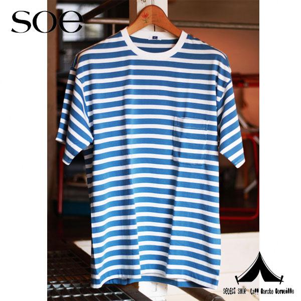 【 Soe 】 ソーイ Cotton Border T-shirt コットンボーダーTシャツ 1161-11-003