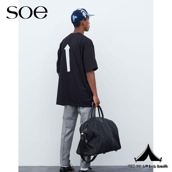 "【 Soe 】 ソーイ Cotton Big T-shirt ""ARROW""コットンビッグTシャツ ""アロー""プリント 1161-11-206"