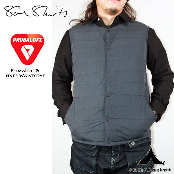 【 Soeshirts 】 ソーイシャツ Inner Primaloft Waistcoat プリマロフト・ベスト