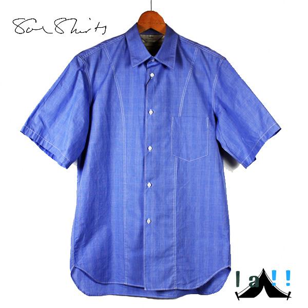 """【 Soe Shirts 】 ソーイシャツ H/S Regular Collar """"Work"""" レギュラーカラー・ハーフスリーブワークシャツ"""