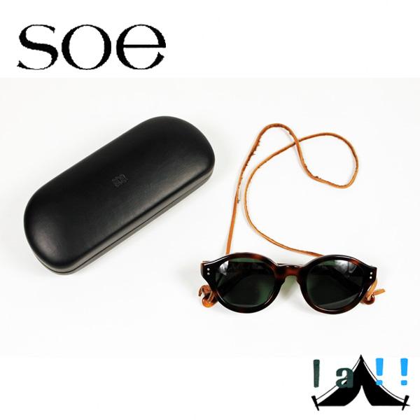 【 Soe 】 ソーイ SUNGLASSES WITH LEATHER HOLDER レザーホルダー・サングラス