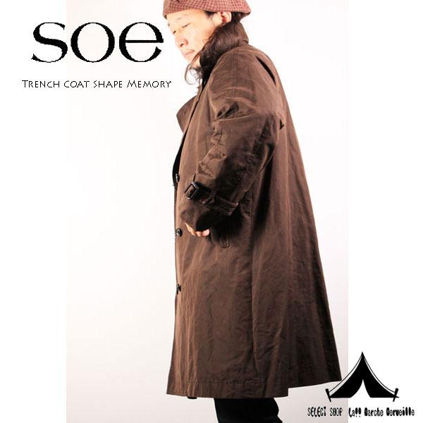 【 Soe 】 ソーイ Trench Coat Shape Memory 形状記憶素材 トレンチコート