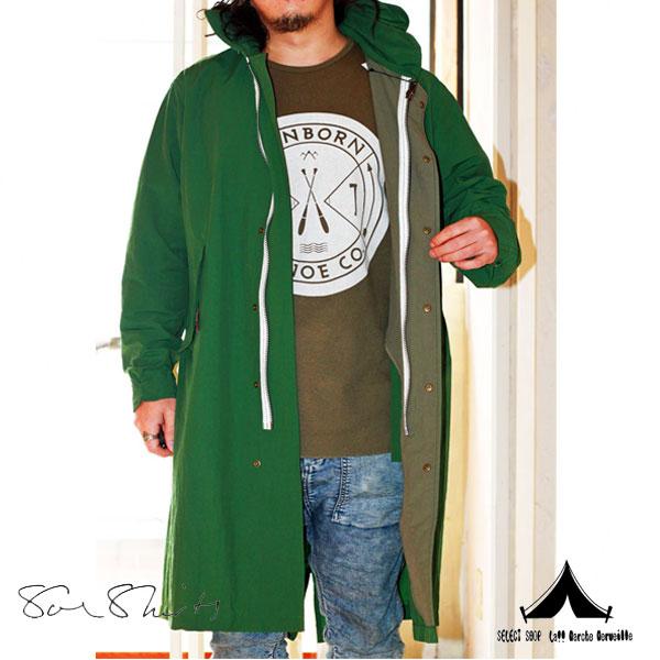 【 Soeshirts 】 ソーイシャツ Nylon Fatigue Coat レインコート 2161-90-001