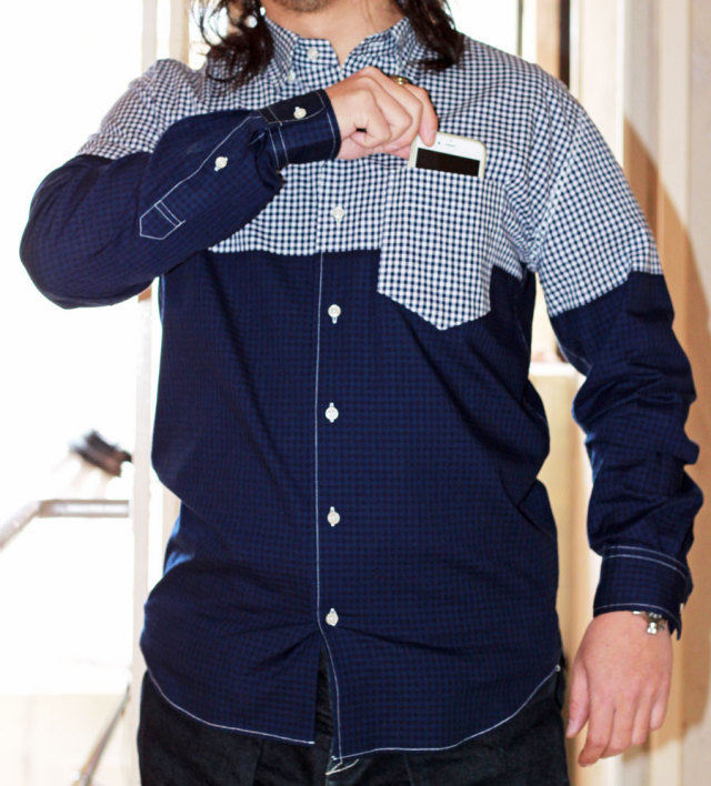 【 Soeshirts 】 ソーイシャツ COTTON GINGHAM CHECK L/S CONCEALED B.D COLLAR [ 2161-81-011 ]