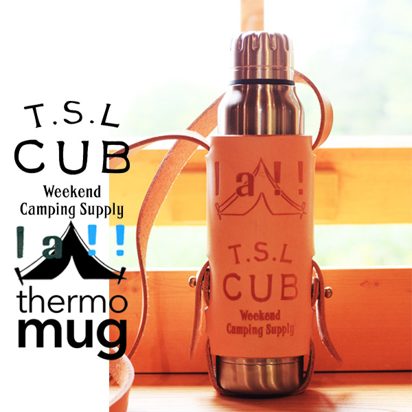 【 TSL CUB & La!! Marche Merveille 】 ティーエスエル・カブ & ラマル Collaboration Bottle & holder コラボレーション・ボトル&ホルダー