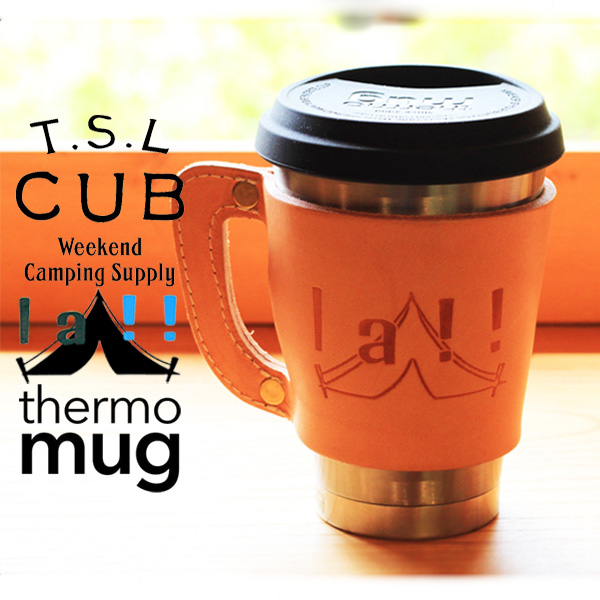 【 TSL CUB & La!! Marche Merveille 】 TSLカブ & ラマル Collaboration Coffee Tumbler & holder コラボ・コーヒータンブラー&ホルダー
