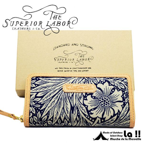 【 T.S.L. 】 シュペリオールレイバー William Morris Fabric Long Wallet ウィリアム・モリス・ファブリック 長財布